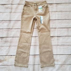 Time And Tru Slim Bootcut High Rise Brown Pants 6P